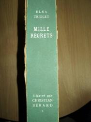 ELSA TRIOLET  MILLES REGRETS ,PARIS 1947