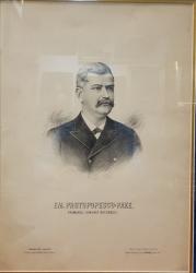 EM. PROTOPOPESCU - PAKE, PRIMARUL COMUNEI BUCURESTI - LITOGRAFIE