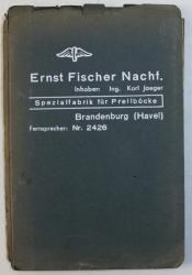 ERNST FISCHER NECHF .  - SPEZIALFABRIK FUR PRELLBOCKE ( CATALOG  DE PREZENTARE CU PRODUSELE FABRICII  IN DOMENIUL CAILOR FERATE ) , EDITIE INTERBELICA