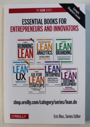 ESSENTIALS BOOKS FOR ENTREPRENEURS AND INNOVATORS - LEAN ANALYTICS , USE DATA TO BUIL A BETTER STARTUP  FASTER . series editor ERIC REIES