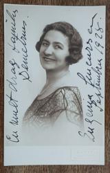 Eugenia Ciucurescu - Foto tip CP dedicatie