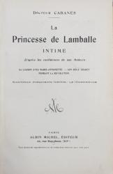 EX LIBRIS APARTINAND LUI F.M. BOMCHIS * , PE VOLUMUL - LA PRINCESSE DE LAMBALLE par DOCTEUR CABANES -  , EDITIE INTERBELICA *