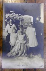 FAMILIA PRINCIARA - FERDINAND , MARIA , CAROL , MARIOARA , ILEANA - CARTE POSTALA FOTO