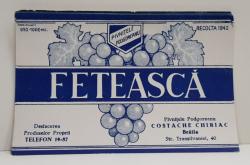 FETEASCA  , ETICHETA PENTRU STICLA , 1942