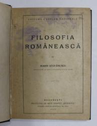 FILOSOFIA ROMANEASCA de MARIN STEFANESCU , 1922