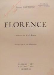 FLORENCE par PIERRE GAUTHIEZ , 1927