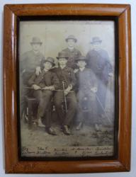 FOTOGRAFIE DE GRUP CU  ELEVII CLASEI A V-A  DE LA LICEUL SFANTUL GHEORGHE DIN BUCURESTI , FACUTA DE PROFESORUL WALCH , DATATA IUNIE , 1888