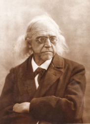 Fotografie originala ilustrandu-l pe istoricul Theodor Mommsen, cca. 1890