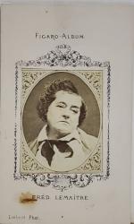 FRED LEMAITRE  , FIGARO ALBUM , D 'APRES  LIEBERT  PHOT. , FOTOGRAFIE TIP C.D.V. , 1870