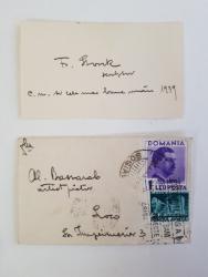 Fritz Storck Scrisoare catre Al. Bassarab  10 ianuarie 1939