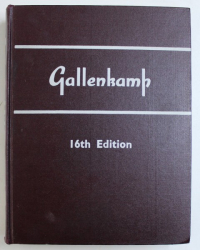 GALLENKAMP - MANUFACTURES AND SUPPLIERS OF SCIENTIFIC APPARATUS & INSTRUMENTS , LABORATORY FURNITURE & FITTINGS - SIXTEENTH EDITION GENERAL CATALOGUE , 1968