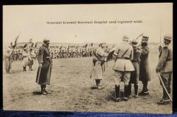 Generalul Gourand decoreaza drapelul unui regiment eroic - CP Foto