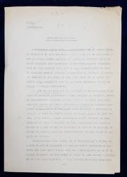 GEO BOGZA  - BOMBARDAREA ATOMULUI   - ARTICOL PENTRU ZIAR , DACTILOGRAFIAT , CU CORECTURILE,  MODIFICARILE SI ADAUGIRILE OLOGRAFE ALE AUTORULUI , 1935