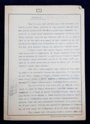 GEO BOGZA  - UCIDEREA COPIILOR  - ARTICOL PENTRU ZIAR , DACTILOGRAFIAT , CU CORECTURILE,  MODIFICARILE SI ADAUGIRILE OLOGRAFE ALE AUTORULUI , 1938