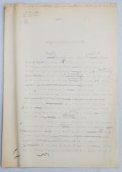 GEO BOGZA  - VIATA IN SCHELELE PETROLIFERE  - ARTICOL PENTRU ZIAR , DACTILOGRAFIAT , CU CORECTURILE,  MODIFICARILE SI ADAUGIRILE OLOGRAFE ALE AUTORULUI , 1934