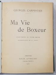 GEORGES CARPENTIER - MA VIE DE BOXEUR, 1921