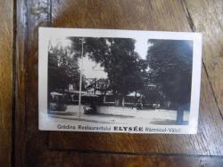 Gradina Restaurantului Elysee Ramnicu Valcea, Fotografie originala tip C. P.