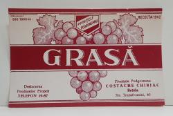 GRASA , ETICHETA PENTRU STICLA , 1942