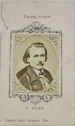 GUSTAVE DORE  , FIGARO ALBUM , D 'APRES  LEGE ET BERGERON  PHOT. , FOTOGRAFIE TIP C.D.V. , 1870