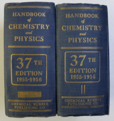 HANDBOOK OF CHEMISTRY and PHYSICS , THIRTY - SEVENTH EDITION , VOLUMELE I - II , 1955 - 1956