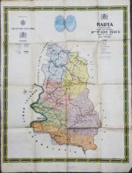 Harta Judetului Caras, lucrata sub ingrijirea D-lui. Ion Teicu - Perioada interbelica