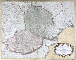 Harta 'Principatele Moldovei si Valahiei', de Jacob F. Schmidt, 1774