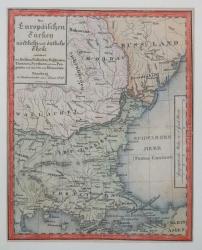 HARTA TURCIEI EUROPENE, NURNBERG, 1828