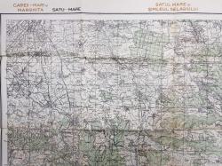 HARTA ZONEI CAREII  - MARI SI HARGITA - SATUL MARE SI SIMLEUL SELAGIULUI - JIBOU , SCARA 1 / 100.000 , POLICROMA , 1940