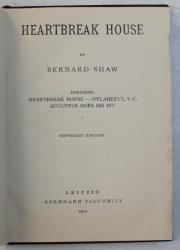 HEARTBREAK HOUSE by BERNARD SHAW , 1921