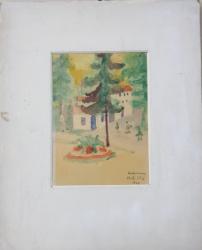 HERCULANE , DESEN de DRUTU ELIZA , SEMNAT SI DATAT 1965