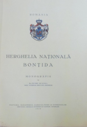 HERGHELIA NATIONALA BONTIDA  - MONOGRAFIE de PETRE SPANUL ( MEDIC VETERINAR , DIRECTORUL HERGHELIEI ) , 1928