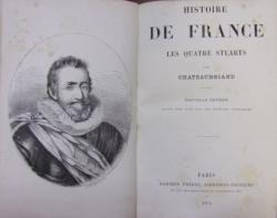 HISTOIRE DE FRANCE de  CHATEAUBRIAND (1874)