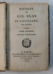 HISTOIRE DE GIL BLAS DE SANTILLANE , par LESAGE , TOME PREMIER , 1824