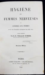 HYGIENE DES FEMMES NERVEUSES pa T. C. E. EDOUARD AUBER - PARIS, 1844
