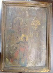 Icoana pe lemn , Sf. Treime , datata 1837