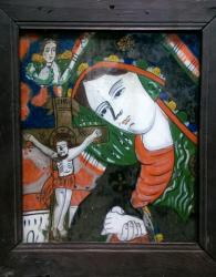 Icoana pe sticla Maica Domnului Indurerata