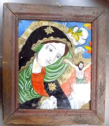 Icoana pe sticla , Maica Domnului indurerata , sfarsitul sec XIX