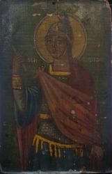 Icoana Sf.Mucenic Gheorghe, Icoana Romaneasca pe lemn