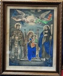 Incoronarea Maicii Domnului - Cromolitografie