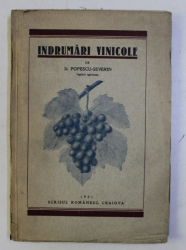 INDRUMARI VINICOLE de D . POPESCU - SEVERIN , 1931