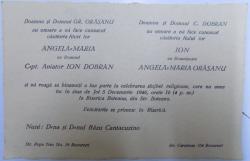 INVITATIE LA NUNTA  Cpt AVIATOR ION DOBRAN , 1946