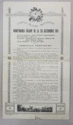 INVITATIE LA VANATOAREA CALARE DE LA 30 OCTOMBRIE 1911