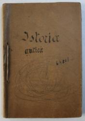 ISTORIA ANTICA - MANUAL PENTRU CLASA A V-A A LICEELOR COMERCIALE DE BAETISI FETE de LUCIA PAMFIL GEORGIAN , 1938 , PREZINTA INSEMNARI CU CREIONUL