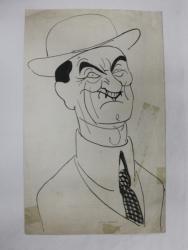 IULIU MANIU - CARICATURA de  B'ARG ( ION BARBULESCU 1887 - 1969 ) , PERIOADA INTERBELICA