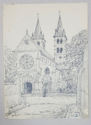 Jean Lefort (1875-1954) - Melun - Notre-Dame
