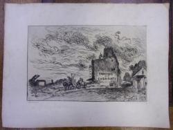 JOHAN JONKIND (1819-1891) - GRAVURA SEMNATA SI DATATA 1875