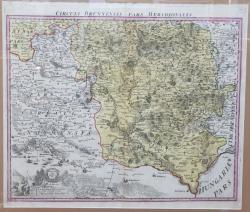 Johann Baptist Homann, CIRCULI BRUNNENSIS PARS MERIDIONALIS - Harta 1720