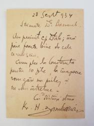 K. H. Zambaccian, Scrisoare catre pictorul Al. Bassarab