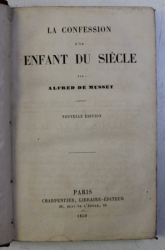 LA CONFESSION D ' UN ENFANT DU SIECLE par ALFRED DE MUSSET  , 1859
