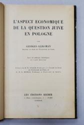 L'ASPECT ECONOMIQUE DE LA QUESTION JUIVE EN POLOGNE par GEORGES GLIKSMAN - PARIS, 1929